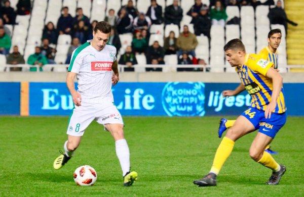Match Report:  Ήττα με 1-2 από τον ΑΠΟΕΛ  για την 13η αγωνιστική του πρωταθλήματος