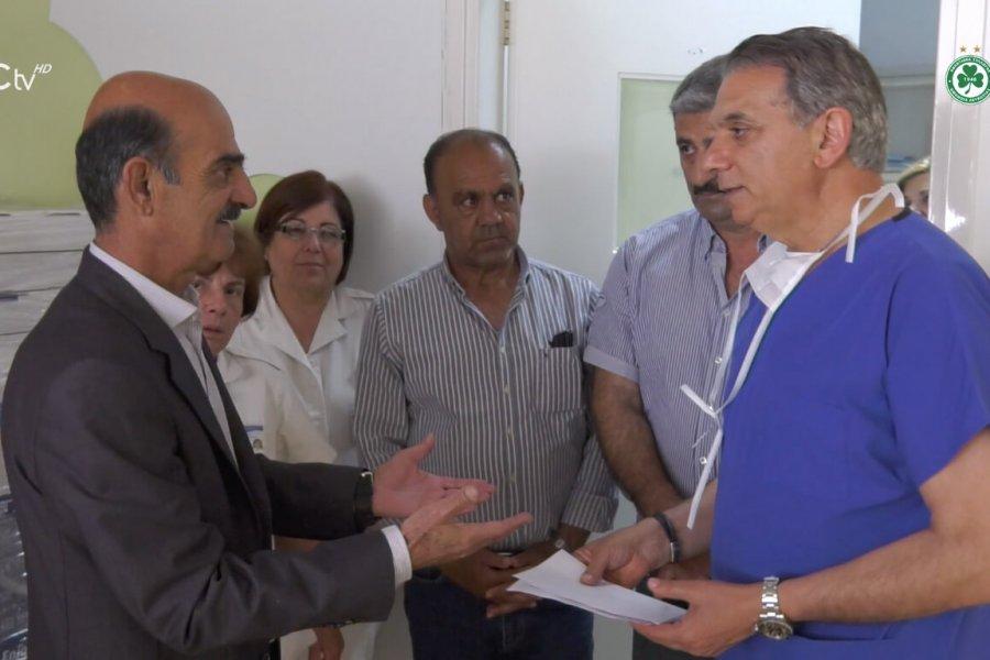 Το ρεπορτάζ του OFC TV για την παράδοση της εισφοράς στο Μακάρειο Νοσοκομείο