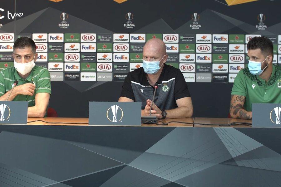 Η διάσκεψη Τύπου της ομάδας μας ενόψει του αγώνα με την PSV