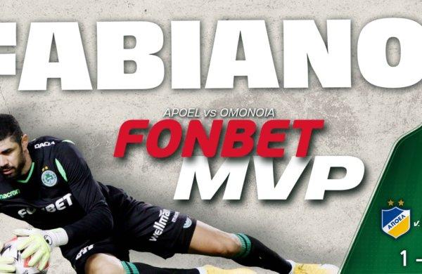 FONBET MVP για τον αγώνα με τoν AΠΟΕΛ ο Φαμπιάνο